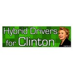 Hybrid Drivers for Clinton bumper sticker