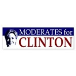 Moderates for Clinton bumper sticker