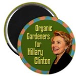 Organic Gardeners for Hillary Clinton magnet