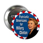 Patriotic Americans for Hillary Clinton Button