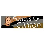 Potters for Clinton bumper sticker