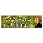 Weavers for Clinton bumper sticker