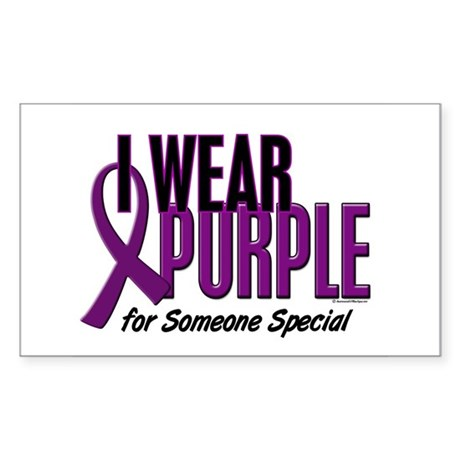 I Wear Purple For Someone Special 10 Sticker (Rect