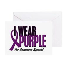 I Wear Purple For Someone Special 10 Greeting Card