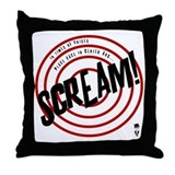 Screaming Throw Pillows