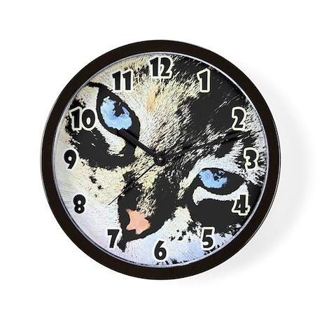 Ink Cat Wall Clock