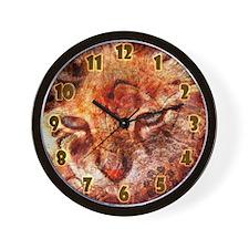 Wood Cat Wall Clock