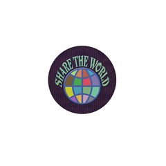 Share the World Mini Button (100 pack)