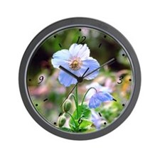Blue Poppy Stages Wall Clock