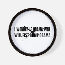 Fist Bump Osama Wall Clock