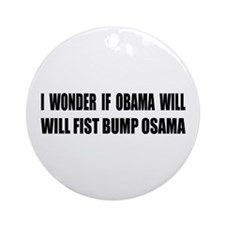 Fist Bump Osama Ornament (Round)