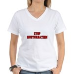 Stop Musturbation Women's V-Neck T-Shirt