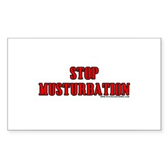 Stop Musturbation Rectangle Decal