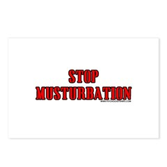 Stop Musturbation Postcards (Package of 8)