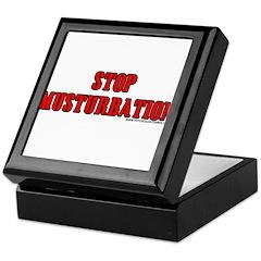 Stop Musturbation Keepsake Box