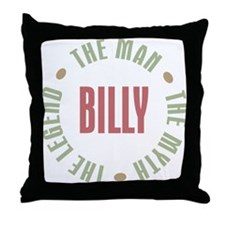 Billy Man Myth Legend Throw Pillow