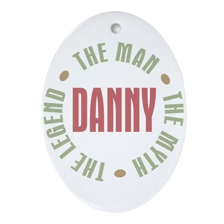 Danny Man Myth Legend Oval Ornament