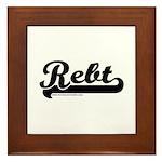 Softball REBT Framed Tile