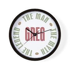 Greg Man Myth Legend Wall Clock