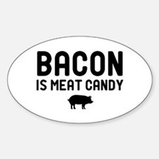 Bacon Meat Candy Oval Decal