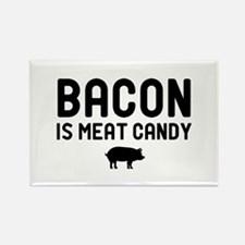Bacon Meat Candy Rectangle Magnet