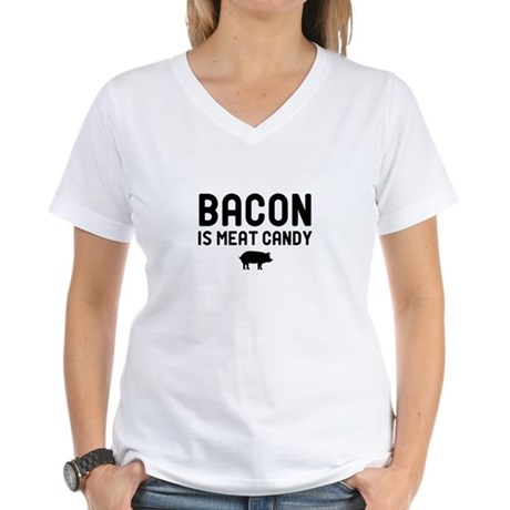Bacon Meat Candy Women's V-Neck T-Shirt