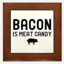Bacon Meat Candy Framed Tile