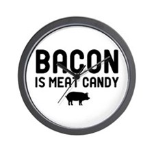 Bacon Meat Candy Wall Clock