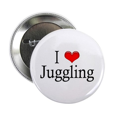 """I Heart Juggling 2.25"""" Button (10 pack)"""