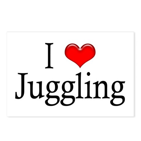 I Heart Juggling Postcards (Package of 8)