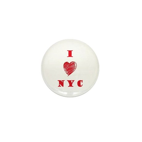 I love NYC Mini Button (10 pack)