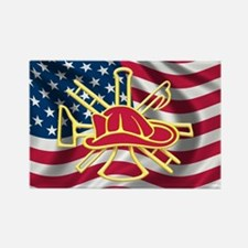 Firefighter Rectangle Magnet (10 pack)