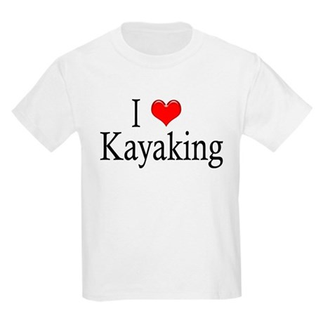 I Heart Kayaking Kids T-Shirt