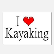 I Heart Kayaking Postcards (Package of 8)