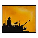 LAV III GUNNER Small Poster