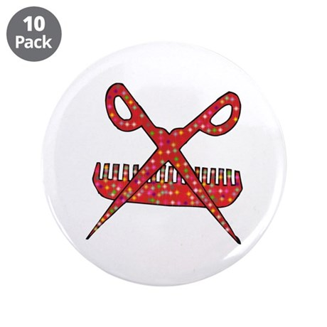 """Beautician 3.5"""" Button (10 pack)"""