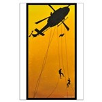 ch-146 griffon with troops rappelling Large Poster