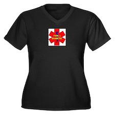 Cute Type 1 diabetic Women's Plus Size V-Neck Dark T-Shirt