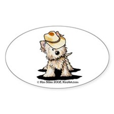 Country Cairn Oval Sticker (50 pk)
