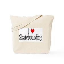 I Heart Skateboarding Tote Bag