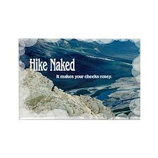 Hike Naked Rectangle Magnet