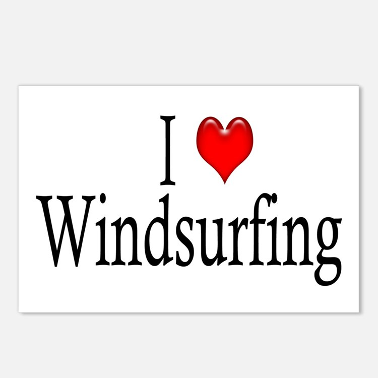 I Heart Windsurfing Postcards (Package of 8)