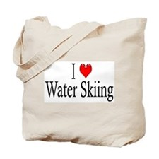 I Heart Water Skiing Tote Bag