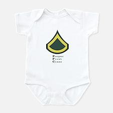 U.S.Army PFC T-Shirts & Gifts Infant Bodysuit