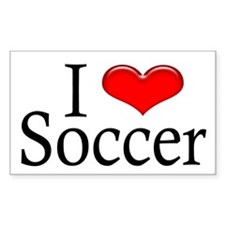 Soccer Rectangle Decal