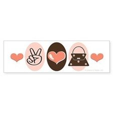 Peace Love Handbags Purse Bumper Bumper Sticker