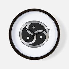 BDSM Femdom Triskelion symbol Wall Clock