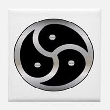 BDSM Femdom Triskelion symbol Tile Coaster