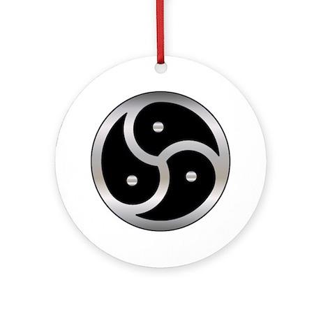 BDSM Femdom Triskelion symbol Ornament (Round)