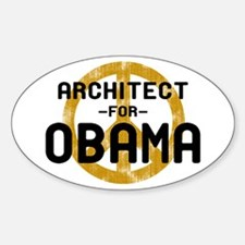Architect for Obama Oval Decal